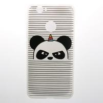 Transparent gélový obal s motivem na Huawei Nova - panda