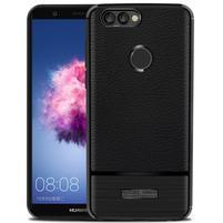 Brúsený odolný gélový obal na Huawei P Smart - čierny