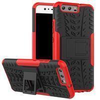 Outdoor odolný obal na mobil Huawei P10 - červený