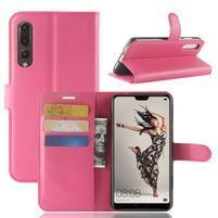 Wallet PU kožené puzdro na Huawei P20 Pro - rose