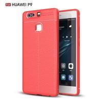 Litch texturovaný odolný gélový obal na Huawei P9 - červený