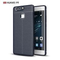 Litch texturovaný odolný gélový obal na Huawei P9 - modrý