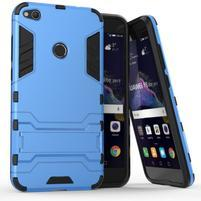 Defender odolný obal so stojančekom na mobil Huawei P9 Lite (2017) - modrý