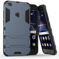 Defender odolný obal so stojančekom na mobil Huawei P9 Lite (2017) - modrosivý