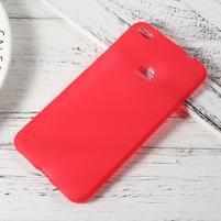 Matný gelový obal na Huawei P9 Lite (2017) - červený