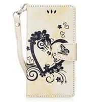 Hearts peňaženkové puzdro s pútkom na Huawei P9 Lite (2017) - biele