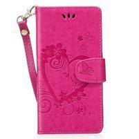 Hearts peňaženkové puzdro s pútkom na Huawei P9 Lite (2017) - rose