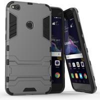 Defender odolný obal so stojančekom na mobil Huawei P9 Lite (2017) - sivý