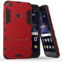 Defender odolný obal so stojančekom na mobil Huawei P9 Lite (2017) - červený