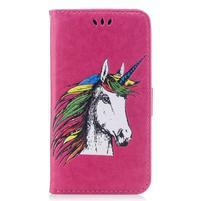 Unicorn PU kožené puzdro na Huawei P8 Lite - rose