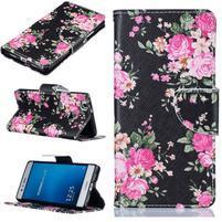 Motive peňaženkové puzdro na Huawei P9 Lite - kvety