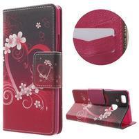 Patty peňaženkové zapínacie puzdro na Huawei P9 Lite - srdce