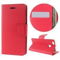 BravoDiary PU kožené puzdro na mobil Huawei P9 Lite - rose