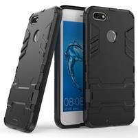 Defender odolný obal so stojančekom na Huawei P9 Lite mini - čierny