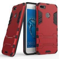 Defender odolný obal so stojančekom na Huawei P9 Lite mini - červený