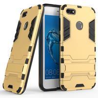 Defender odolný obal so stojančekom na Huawei P9 Lite mini - zlatý