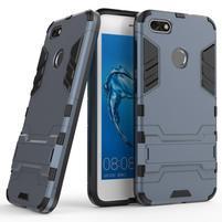 Defender odolný obal so stojančekom na Huawei P9 Lite mini - tmavomodrý