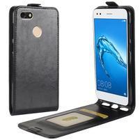 Flipové PU kožené puzdro na Huawei P9 Lite mini - čierne