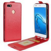 Flipové PU kožené puzdro na Huawei P9 Lite mini - červené