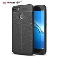 Litch odolný gélový obal s texturovaným chrbtom na Huawei P9 Lite mini - čierny