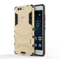 Defender odolný obal so stojančekom na Huawei P9 Plus - zlatý