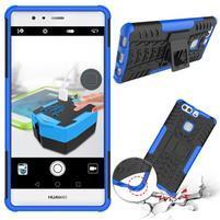 Outdoor odolný obal so stojančekom na Huawei P9 Plus - modrý