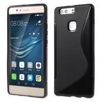 S-line gelový obal na Huawei P9 Plus - čierny