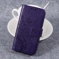Butterfly PU kožené knižkové puzdro na Huawei Y3 II - fialové