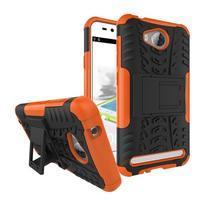 Outdoor odolný obal na mobil Huawei Y3 II - oranžový