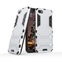 Kick odolný hybridný kryt na mobil Huawei Y5 (2018) - strieborný