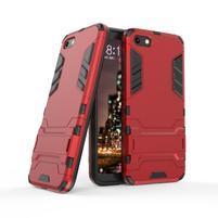 Kick odolný hybridný kryt na mobil Huawei Y5 (2018) - červený