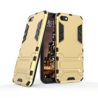 Kick odolný hybridný kryt na mobil Huawei Y5 (2018) - zlatý