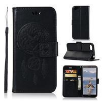 Dream PU kožené peňaženkové puzdro na mobil Huawei Y5 (2018) - čierne
