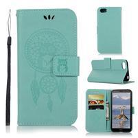 Dream PU kožené peňaženkové puzdro na mobil Huawei Y5 (2018) - zelené