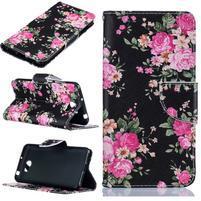 Printy zapínacie peňaženkové puzdro na Huawei Y5 II - flowers