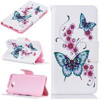Printy zapínacie peňaženkové puzdro na Huawei Y5 II - motýle