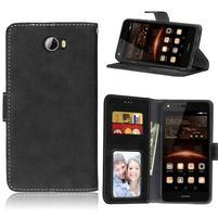 Matty PU kožené puzdro na mobil Huawei Y5 II - čierne