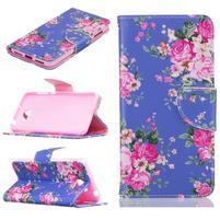 Patty peňaženkové puzdro na mobil Huawei Y5 II - kvety