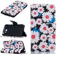 Patty peňaženkové puzdro na mobil Huawei Y5 II - margarétky