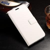Standy PU kožené puzdro na Huawei Y6 II Compact - biele