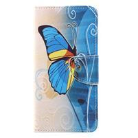 Emotive zapínacie knižkové puzdro na Huawei Y7 - motýľ