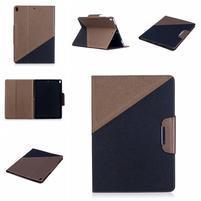 Duocolory PU kožené puzdro na iPad Pro 10.5 - hnedé