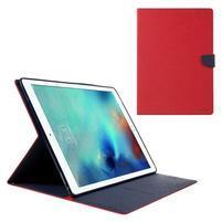 Diary PU kožené puzdro na iPad Pro 12.9 - červené
