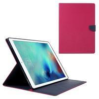 Diary PU kožené puzdro na iPad Pro 12.9 - rose