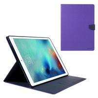 Diary PU kožené puzdro na iPad Pro 12.9 - fialové