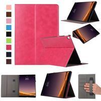 Safe PU kožené puzdro na iPad Pro 12.9 2017 - rose