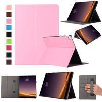 Safe PU kožené puzdro na iPad Pro 12.9 2017 - ružové