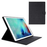 Diary PU kožené puzdro na iPad Pro 12.9 - čierne