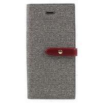 Fashions textilné peňaženkové puzdro pre iPhone 7 a iPhone 8 - sivé