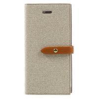 Fashions textilné peňaženkové puzdro pre iPhone 7 a iPhone 8 - khaki